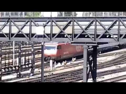 Trains in Basel Bad train station & Basel SBB Teil 1