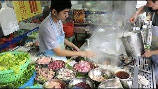 早上6点就来一碗猪杂粥!广东20年小吃店,一桌猪肝、猪肺不够用