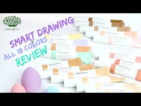 INNISFREE SMART DRAWING SWATCHES & REVIEW | FULL 18 COLORS