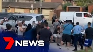 Police use capsicum spray to break up wild brawl in Chester Hill | 7NEWS