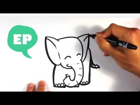 How To Draw A Cute Elephant Easy Pictures To Draw YouTube