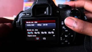 Het Instellen Van Uw Canon Rebel T3i Opnemen - Aflevering 1