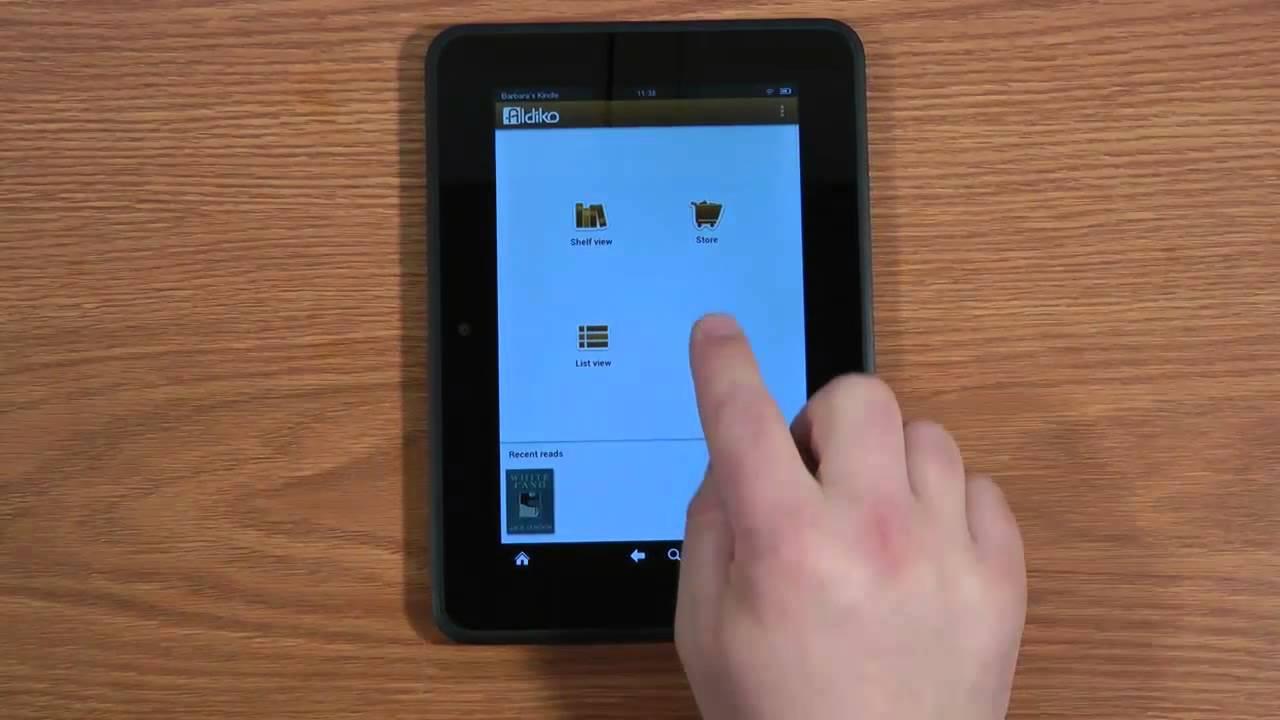 Epub Ebook to Amazon Kindle Fire HD - YouTube