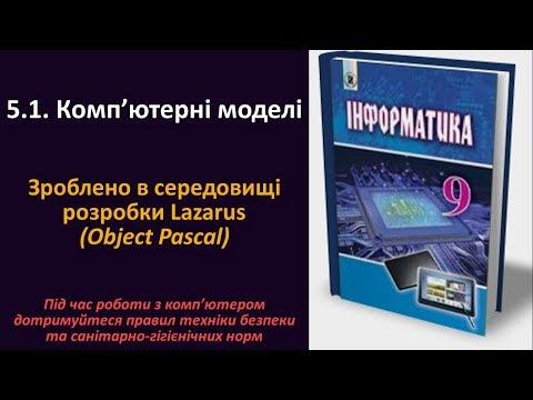 5.1. Комп'ютерні моделі. Зроблено в середовищі розробки Lazarus (Object Pascal)