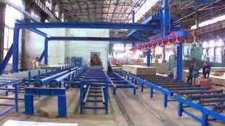 Mineral Wool sandwich panel production line debugging