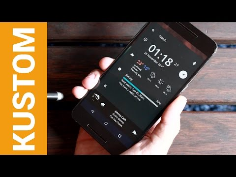 How to use Kustom Live Wallpaper: Part 1