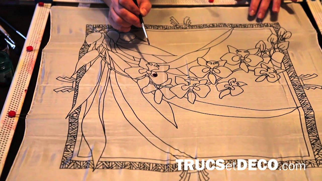 Technique de peinture sur soie tutoriel par trucsetdeco for Peindre sur de la peinture