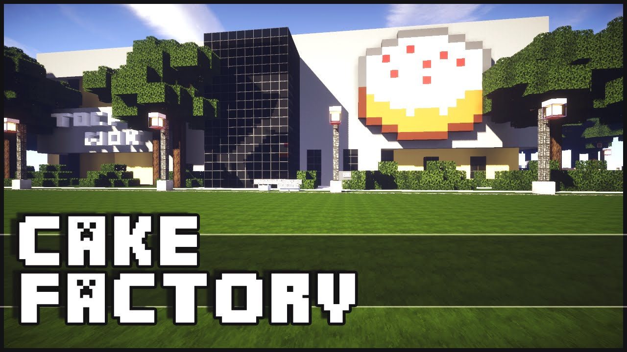 How To Make A Cake Factory In Minecraft