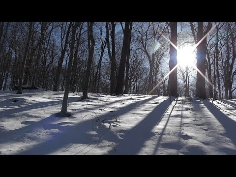 Relaxing Nature Journey / Walkabout #12 (Non-speaking) - Winter 2014 - Binaural - Snow sounds