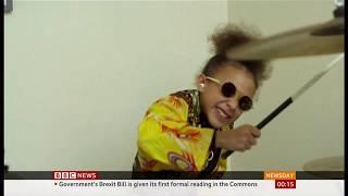 Nandi Bushell online sensation at nine (Global) - BBC News - 20th December 2019