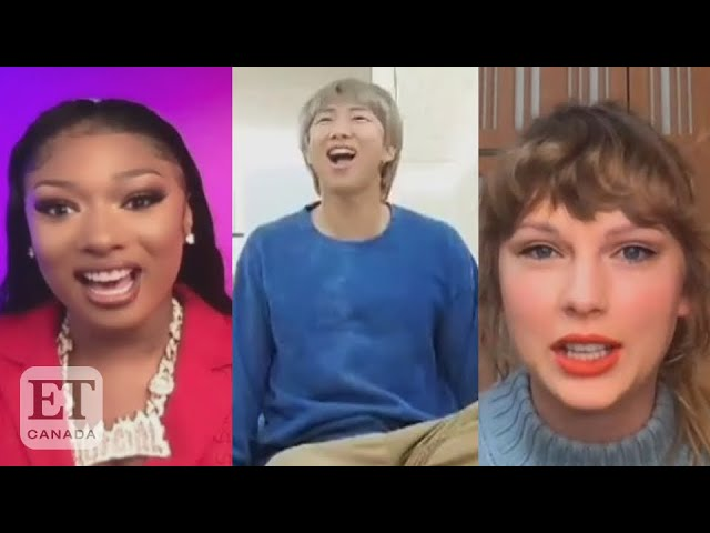 BTS, Taylor Swift, Megan Thee Stallion React To Grammy Nods