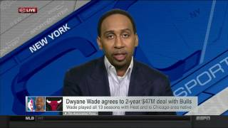 Stephen a smith on dwyane wade decision to join the chicago bulls | july 7, 2016
