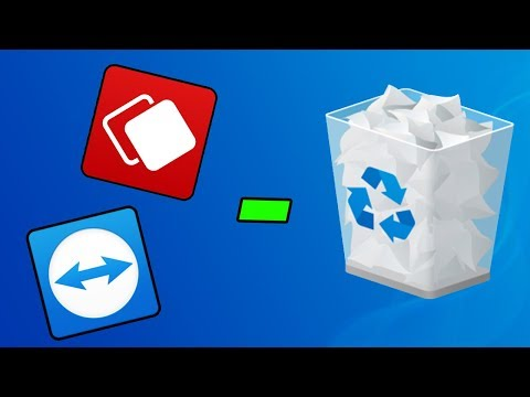 How Teamviewer and Anydesk delete files