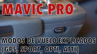 MAVIC PRO (ESPAÑOL) - Modos de vuelo explicados (GPS, SPORT, OPTI, ATTI)