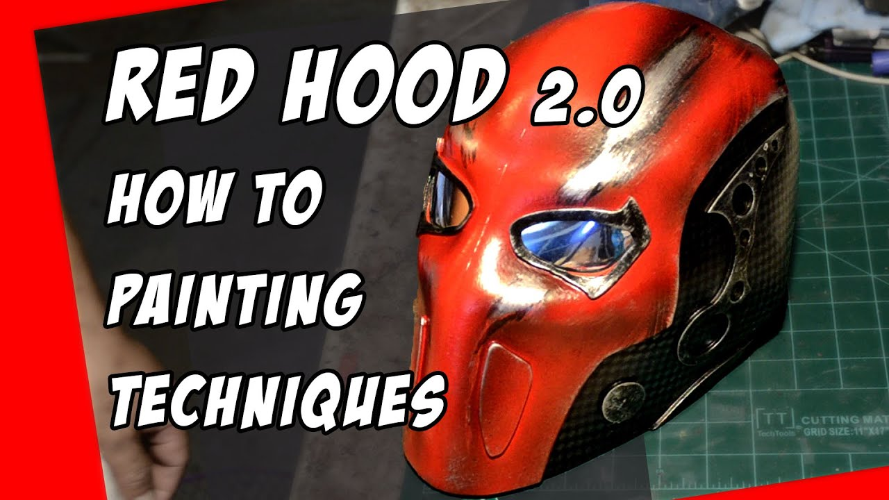 red hood mask 20 how to helmet cosplay painting