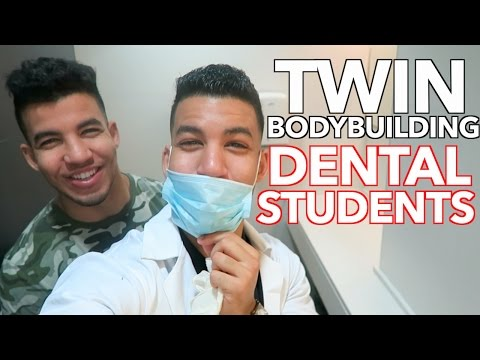 A Day In The Life Of Twin Bodybuilding Dental Students