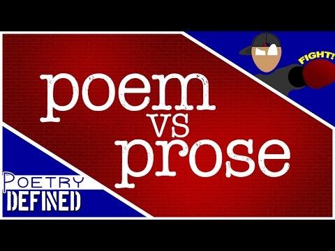 POEM vs PROSE! #PoetryDefined