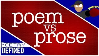 POEM vs PROSE! #PoetryDefined