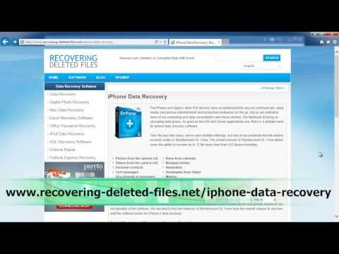 Can you retrieve deleted photos from an iphone 6