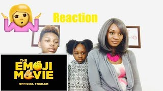 The Emoji Movie Trailer #1- Reaction video - Mom reacts with kids