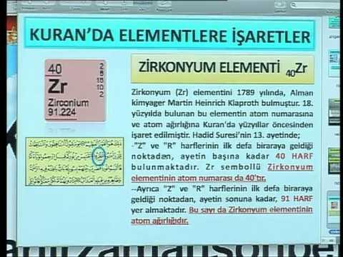 HARUN YAHYA TV - KURAN MUCİZELERİ; KURANDA ELEMENTLERE İŞARETLER; ZİRKONYUM ELEMENTİ.mp4