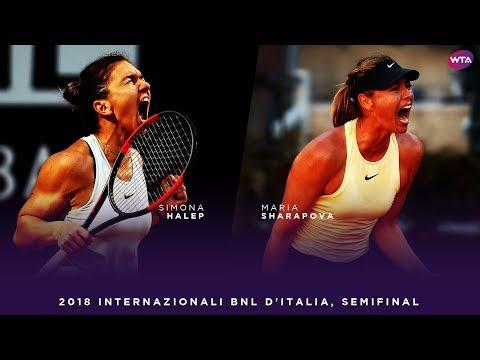 Simona Halep vs. Maria Sharapova | 2018 Internazionali BNL d'Italia Semifinal | WTA Highlights