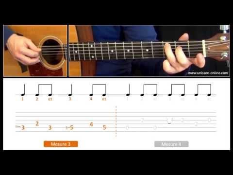 Jouer Sugar (Robin Schulz) - Cours guitare. Tuto + Tab