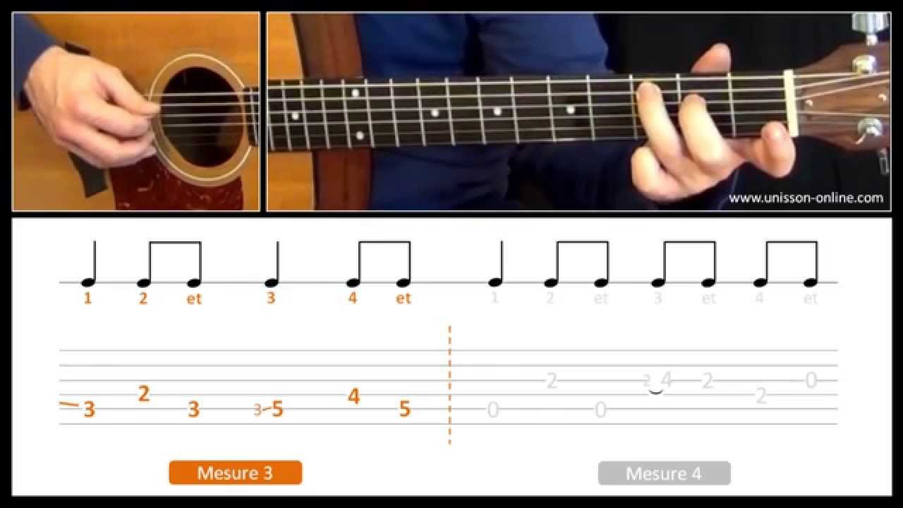 Disney's mary poppins a spoonful of sugar guitar tutorial.