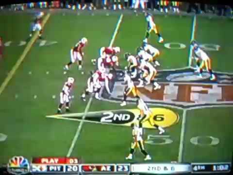 Super bowl 43-Santonio Holmes scores winning touchdown