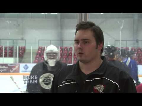 Jackson White of Ayr Centennials Junior C Hockey