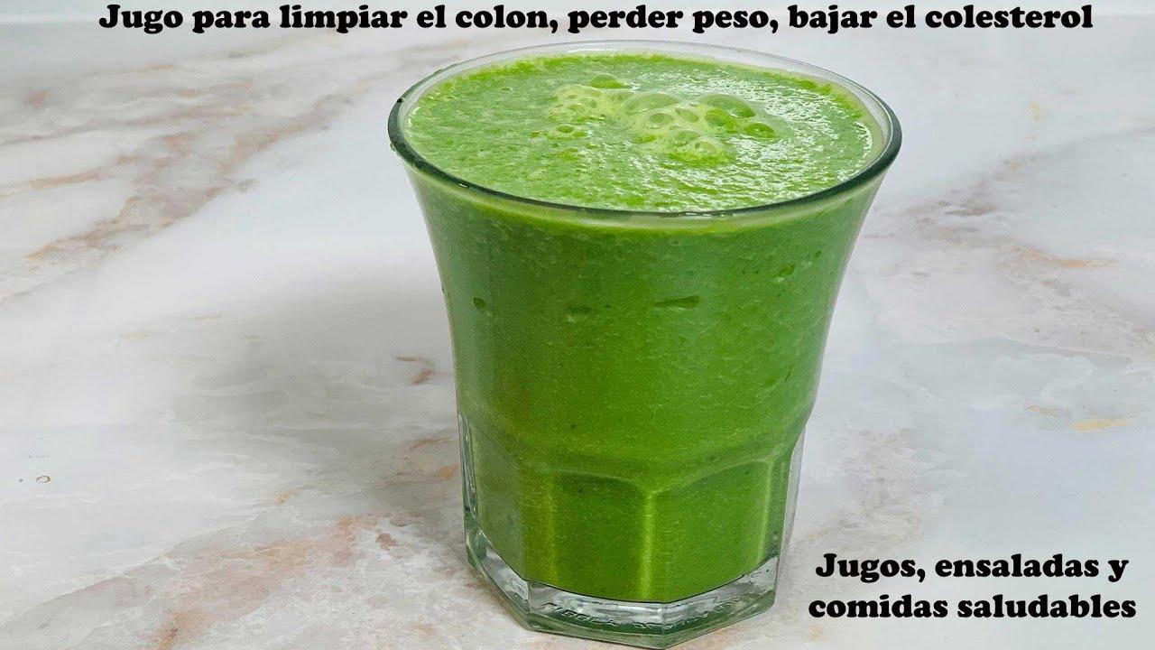 Jugo verde para limpiar el colon, perder peso y  bajar el colesterol