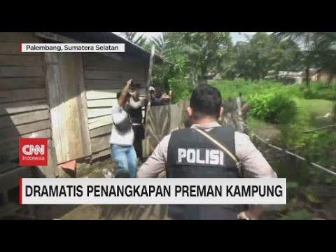 Dramatis Penangkapan Preman Kampung di Palembang