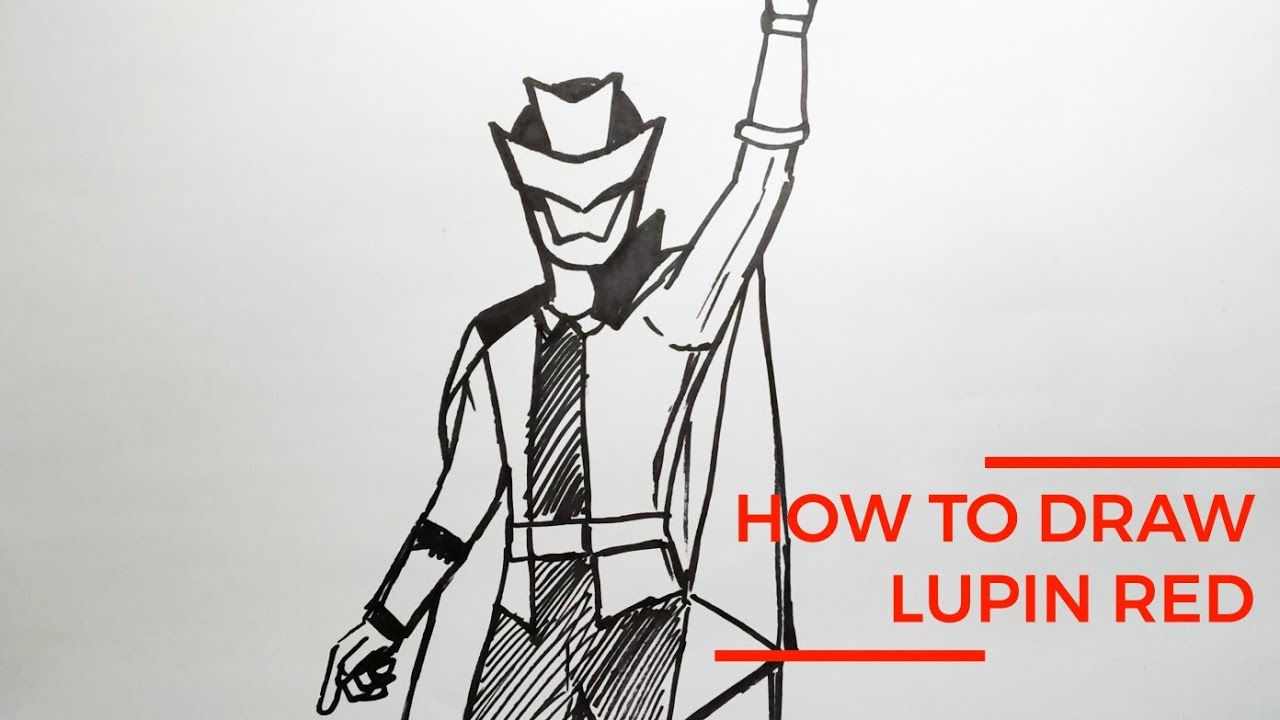 How To Draw Lupin Red LUPINRANGER RTV