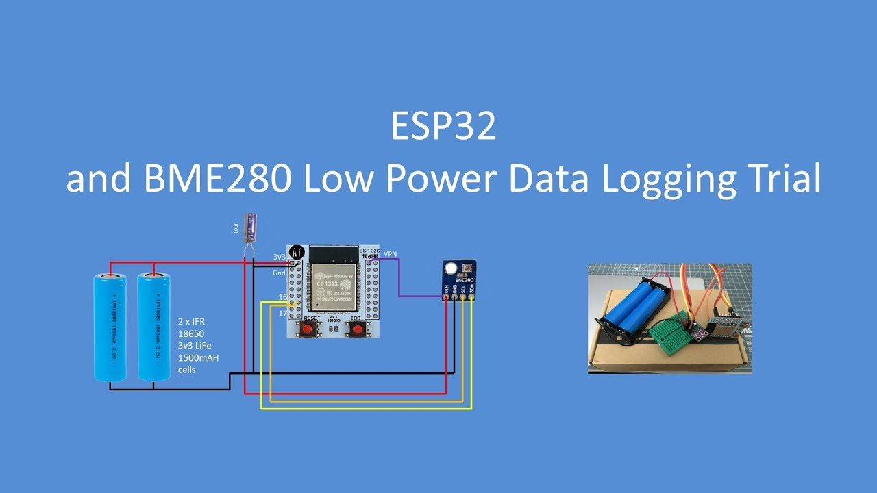 Datalogger Uses ESP32 And ESP8266 Low Power Modes | Hackaday
