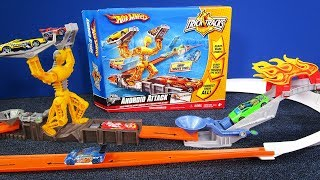 Hot Wheels Trick Tracks Android Attack, a Hot Wheels Track System Just Like Domino Chain Reactions!