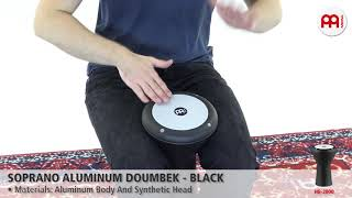 MEINL Percussion - MEINL Percussion - Soprano Aluminum Doumbek, Black - HE-2000