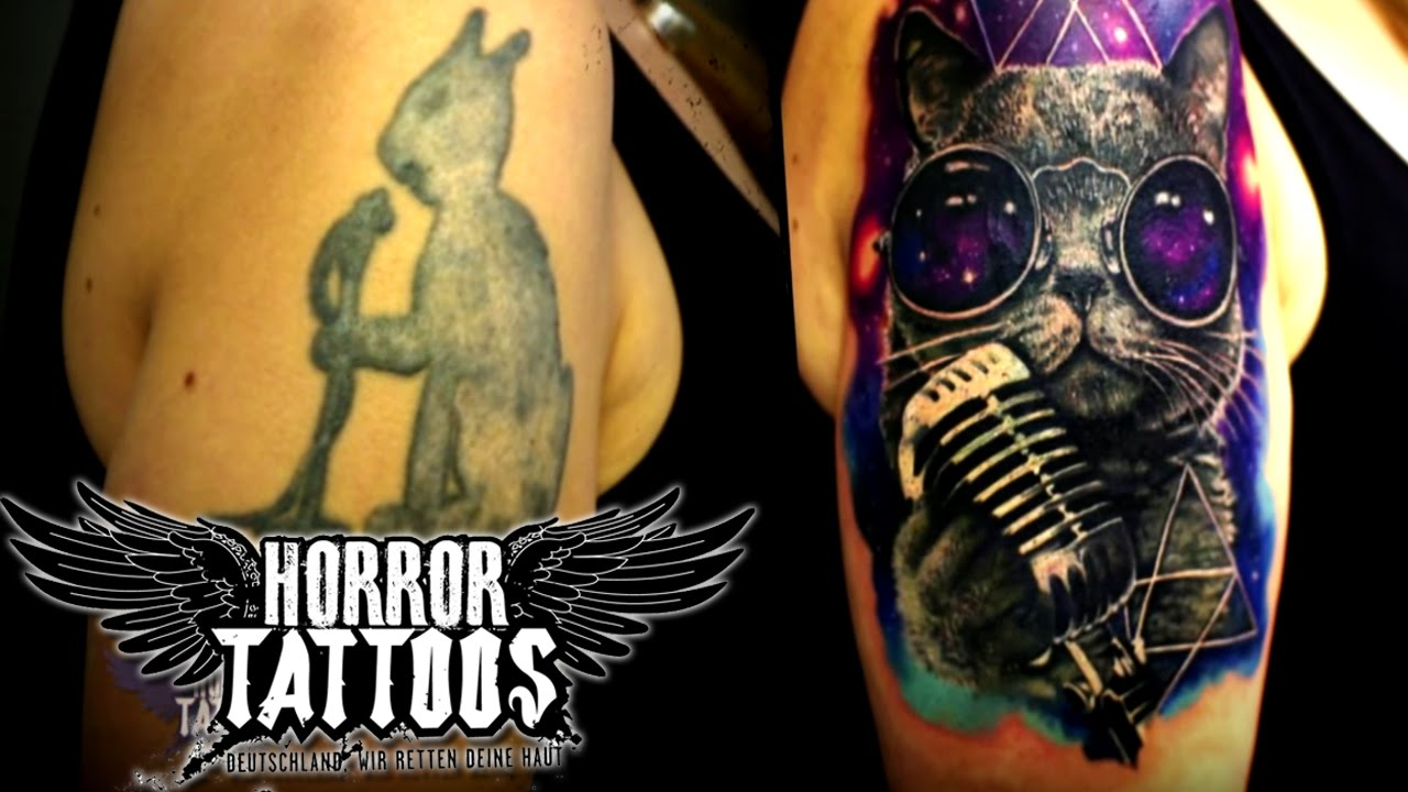 horror tattoos cover up silvana vorher nachher sixx youtube. Black Bedroom Furniture Sets. Home Design Ideas