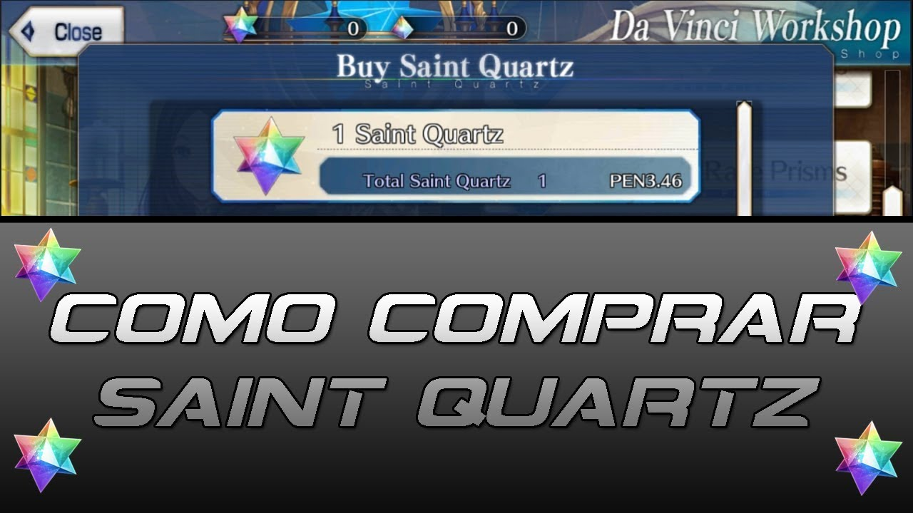 [Fate/Grand Order] - Como comprar Saint Quartz