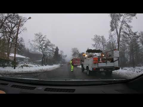 Redding, CA Snow Apocalypse - Driving to Office PART 1