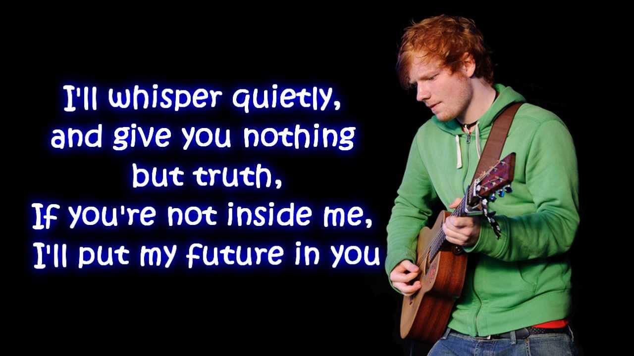 Ed Sheeran - Small Bump Lyrics | MetroLyrics