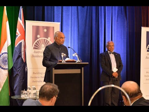 President Kovind attends Australia-India Business Council event in Sydney