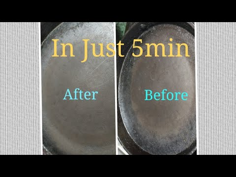 How to clean roti tawa - nonstick pan cleaning - Simple Tips