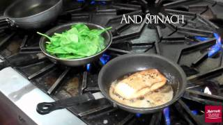 La Marriott Downtown: How To Cook Salmon And Wilted Spinach