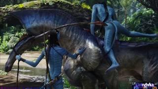 Джейк Учится Езде на Пали ... отрывок из фильма (Аватар/Avatar)2009