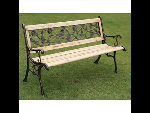 garden bench i garden bench metal and wood garten bank i gartenbank metall und holz youtube. Black Bedroom Furniture Sets. Home Design Ideas