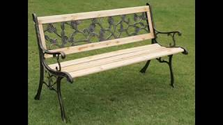 Garden Bench I Garden Bench Metal And Wood Garten-Bank I Gartenbank Metall und Holz
