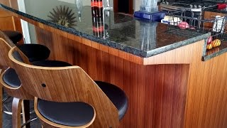 Amazing DIY Kitchen Island Bar without Corbels to Support Granite!