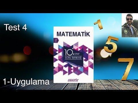 Karekök Yayınları, 10. Sınıf Matematik, Ünite 1, Uygulama Test-4