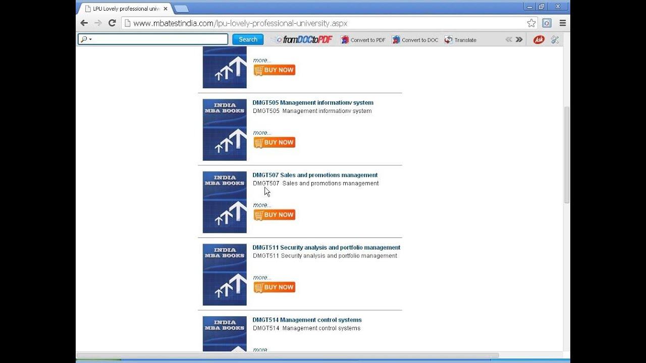 mbatestindia com Lovely Professional university
