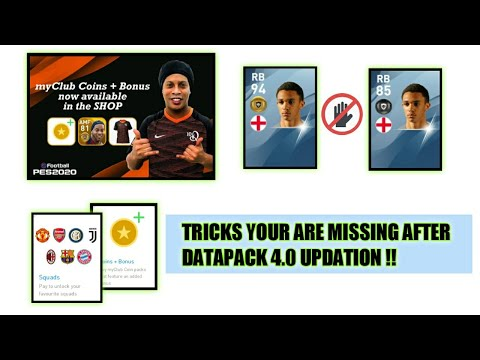 TRICKS YOU ARE MISSING IN PES 2020 - AFTER DATAPACK 4.0 UPDATION//